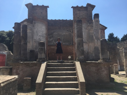 Me at the Temple of Isis in Pompeii